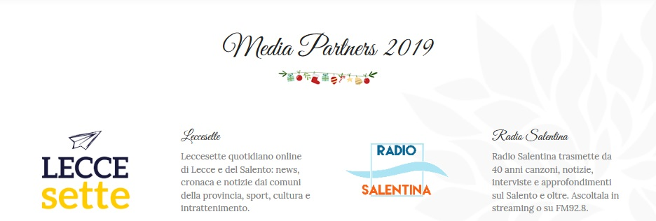 Sito web per Evento: - Media Partner (o Sponsor)