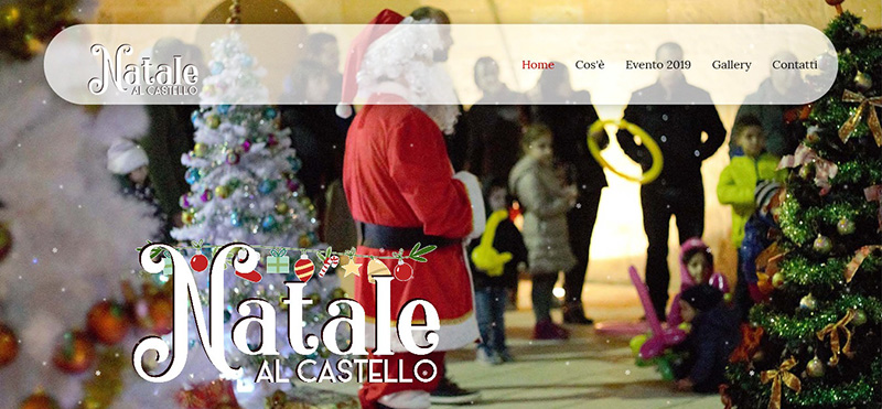 Sito web per Evento: - Maxi Foto in HomePage