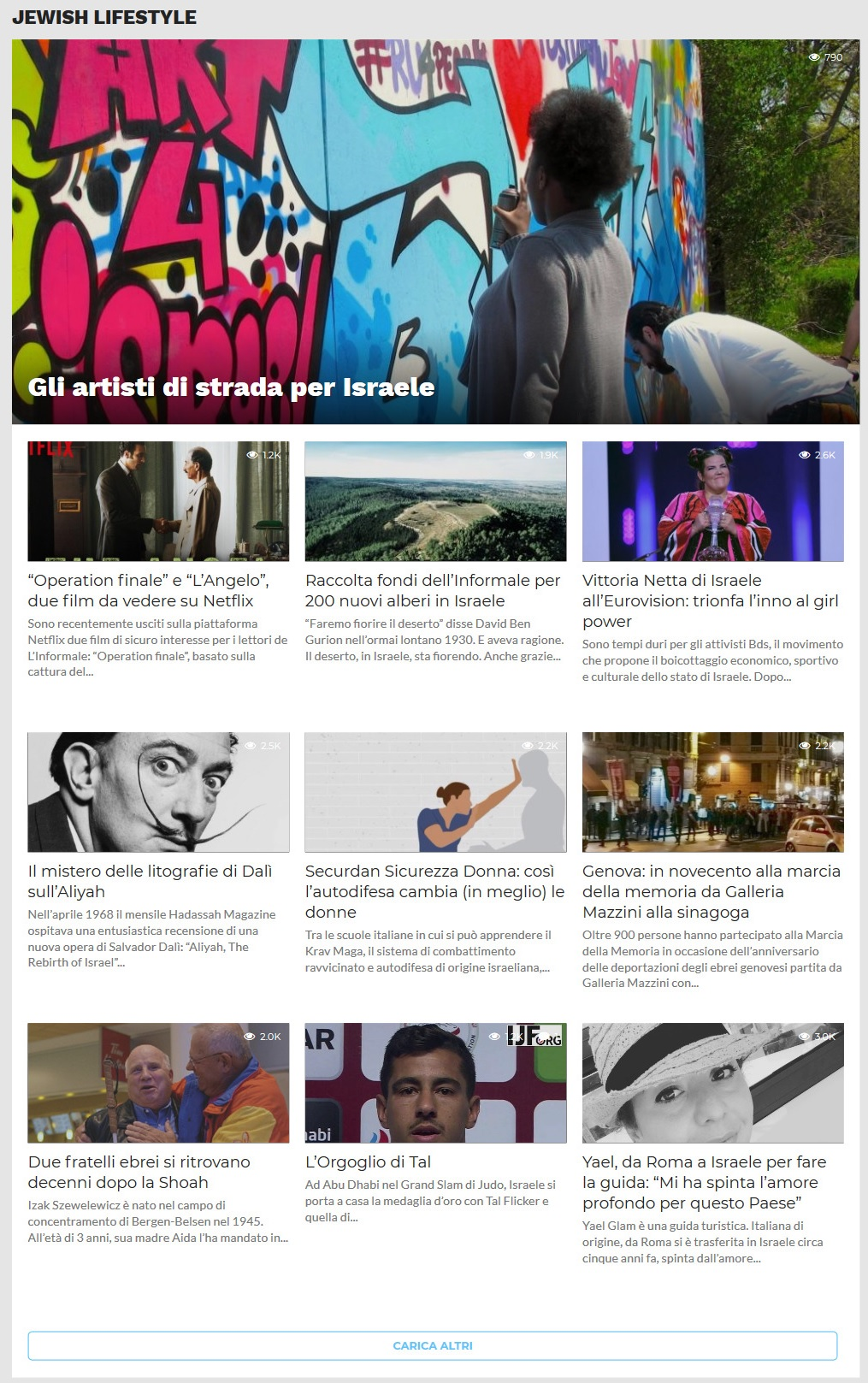 Sito web in wordpress per Giornale Online - Pagina Categoria